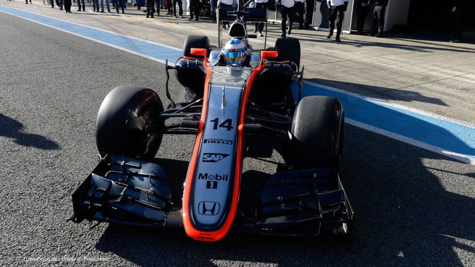 Fernando Alonso, McLaren, Circuito de Jerez, 2015