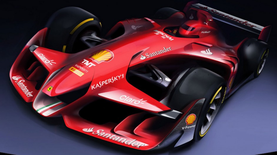 Ferrari unveils its vision of future F1 car design