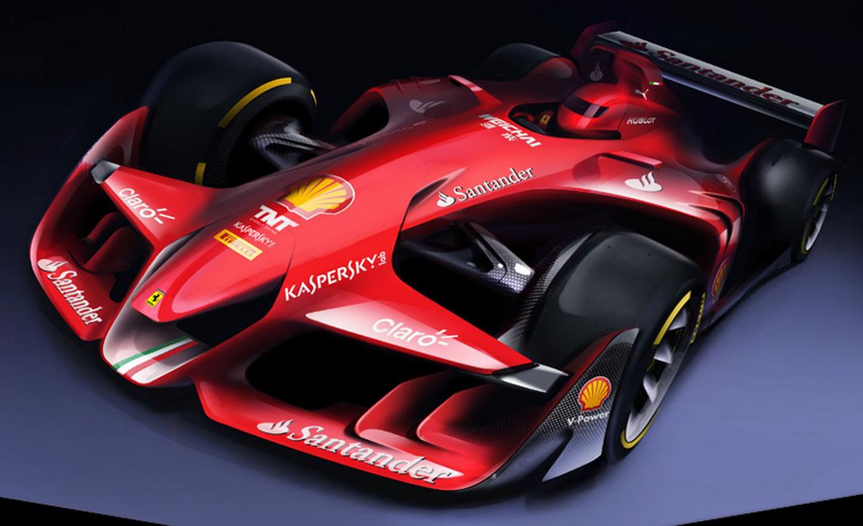Ferrari future F1 car rendering