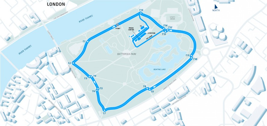 Battersea Park London Formula E circuit, 2015