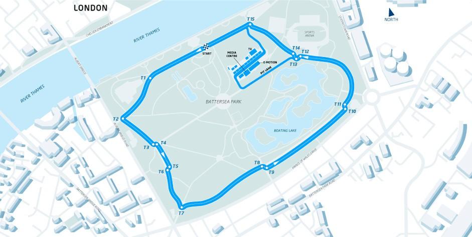 Battersea Park London Formula E circuit, 2015