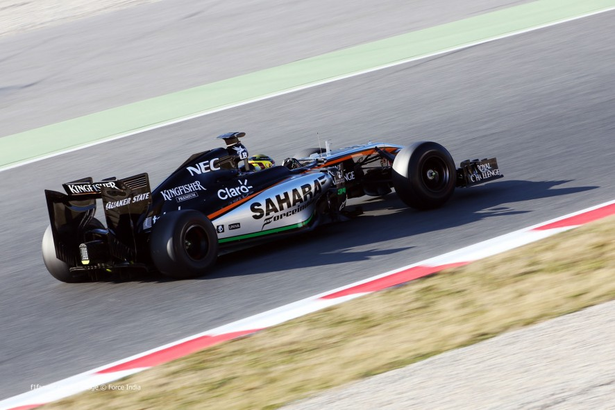 Pascal Wehrlein, Force India, Circuit de Catalunya, 2015