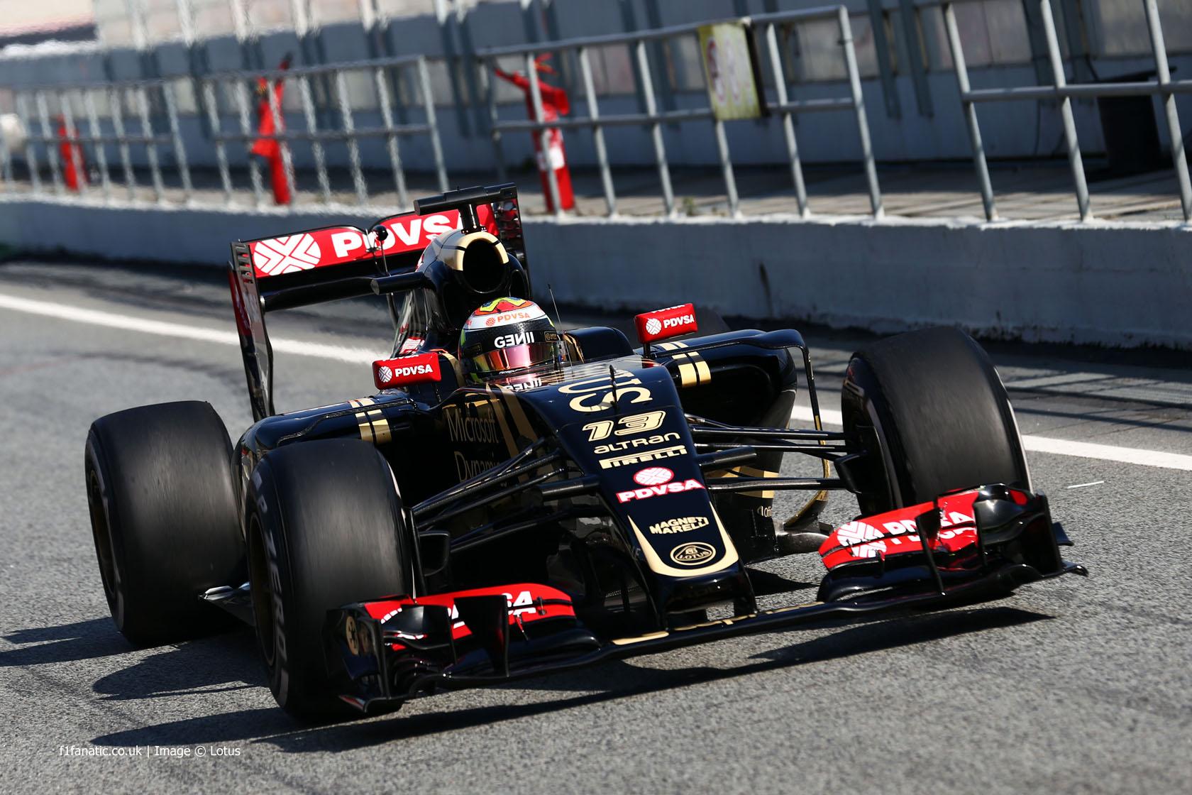 Pastor Maldonado, Lotus, Circuit de Catalunya, 2015