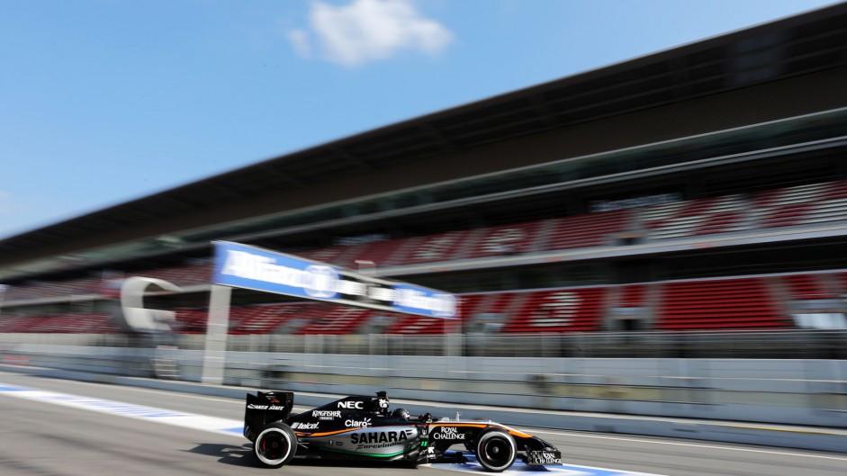 Sergio Perez, Force India, Circuit de Catalunya, 2015