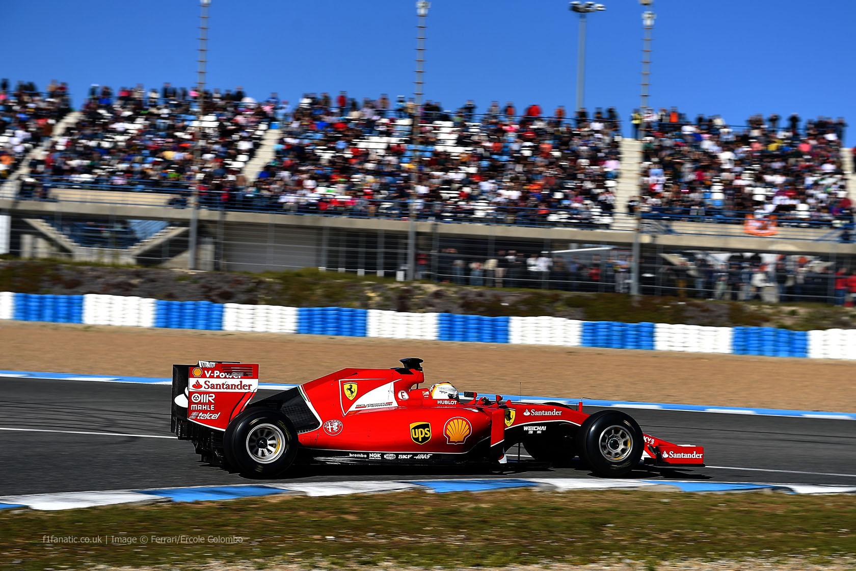 Sebastian Vettel, Ferrari, Circuito de Jerez, 2015