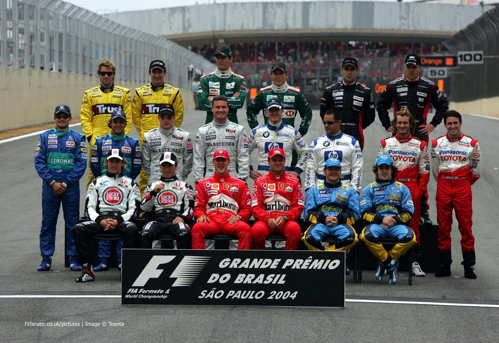 Drivers, Interlagos, 2004