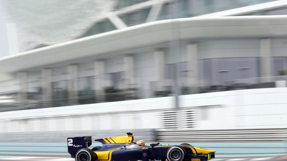 Alex Lynn, DAMS, GP2 testing, Yas Marina, 2015