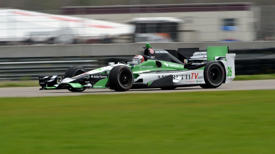 Carlos Munoz Andretti IndyCar NOLA test 2015