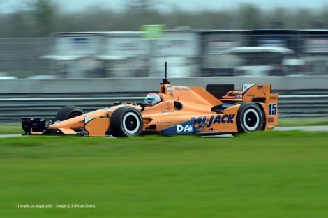 Graham Rahal RLL IndyCar NOLA test 2015