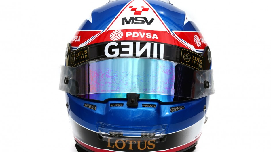 Jolyon Palmer 2015 F1 helmet