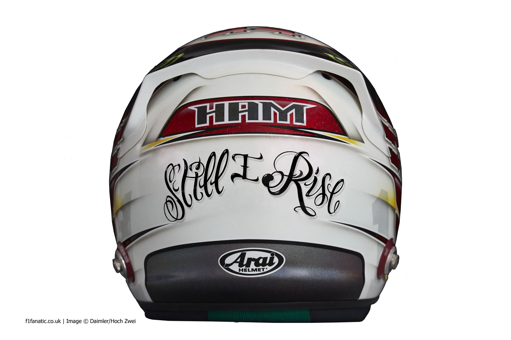 Lewis Hamilton New Helmet Design