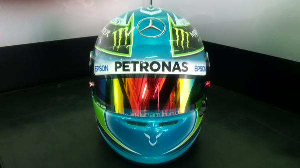 Hamilton first to fall foul of new FIA helmet rule