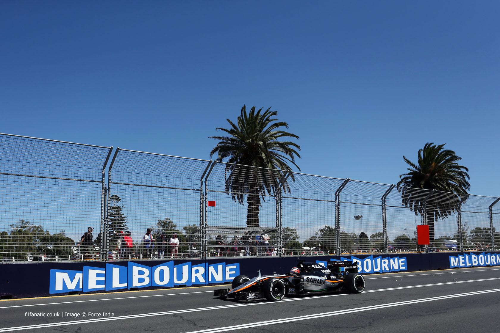 Nico Hulkenberg, Force India, Albert Park, 2015