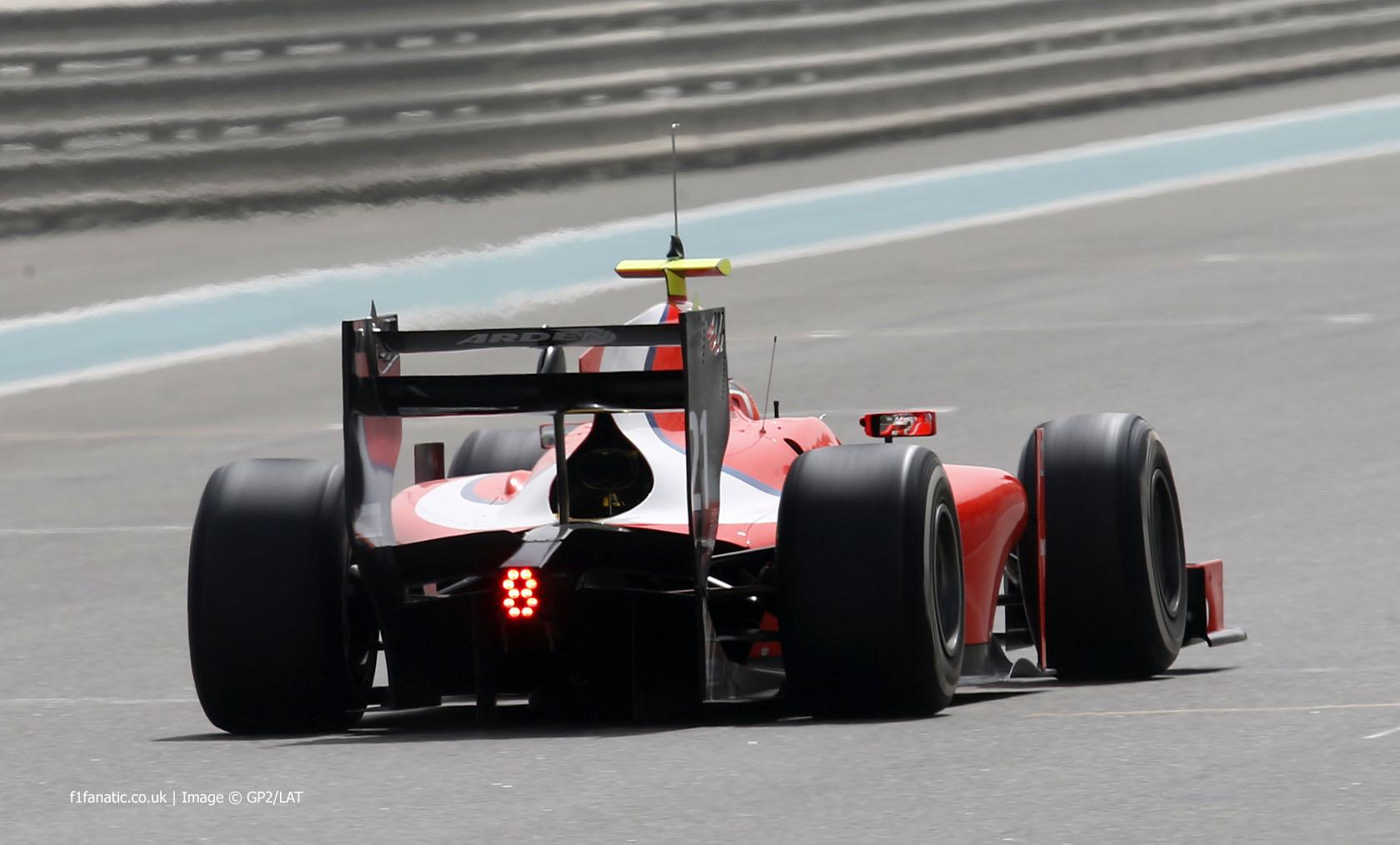Norman Nato, Arden, GP2 testing, Yas Marina, 2015