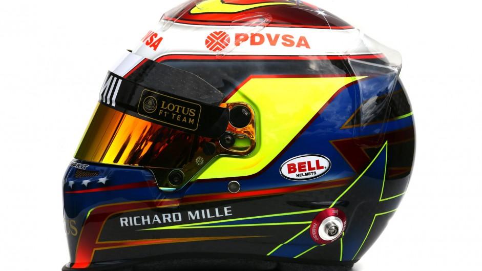 Pastor Maldonado 2015 F1 helmet