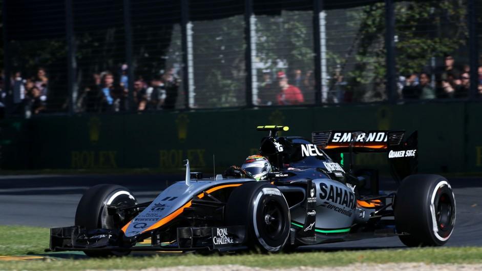 Sergio Perez, Force India, Albert Park, 2015