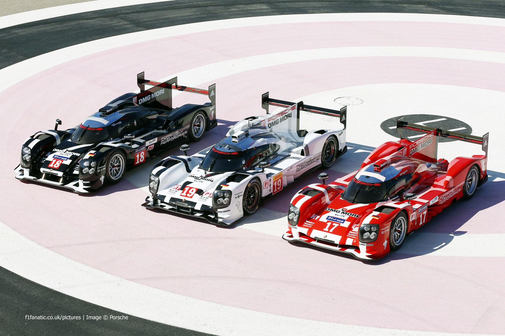 Porsche 919 Hybrids in 2015 Le Mans colors