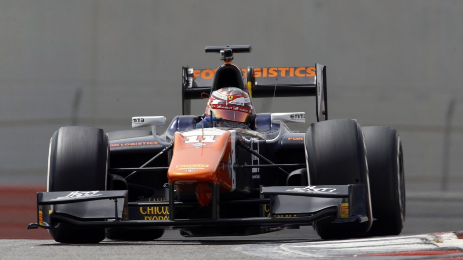 Raffaele Marciello, Trident, GP2 testing, Yas Marina, 2015