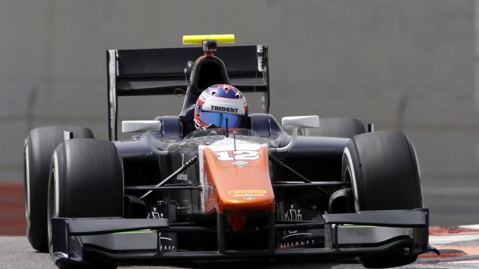 Rene Binder, Trident, GP2 testing, Yas Marina, 2015