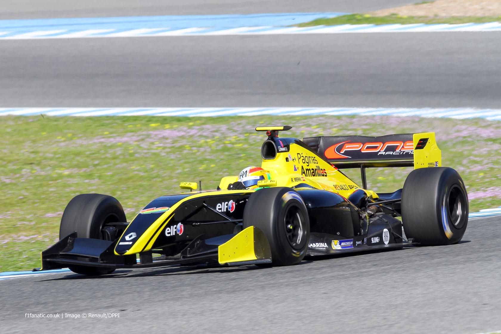 Roberto Merhi Formula Renault 3.5 Pons Jerez 2015