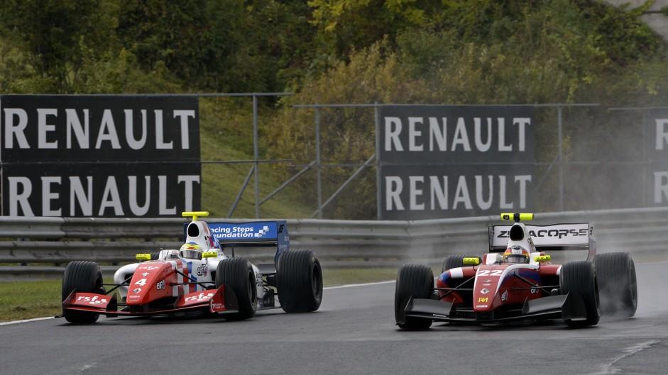 Oliver Rowland, Roberto Merhi Hungaroring Formula Renault 3.5 2014