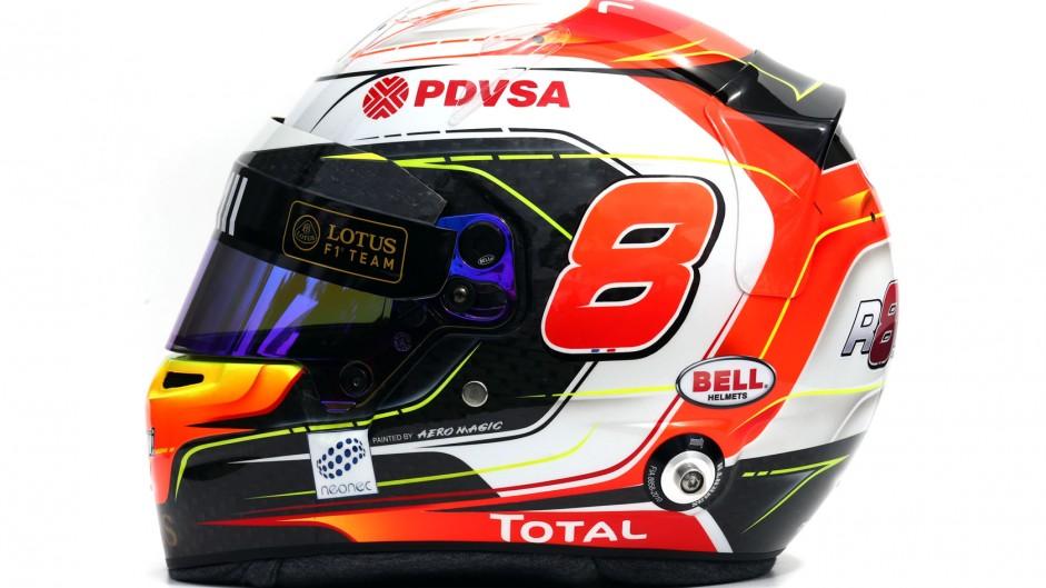 Romain Grosjean 2015 F1 helmet