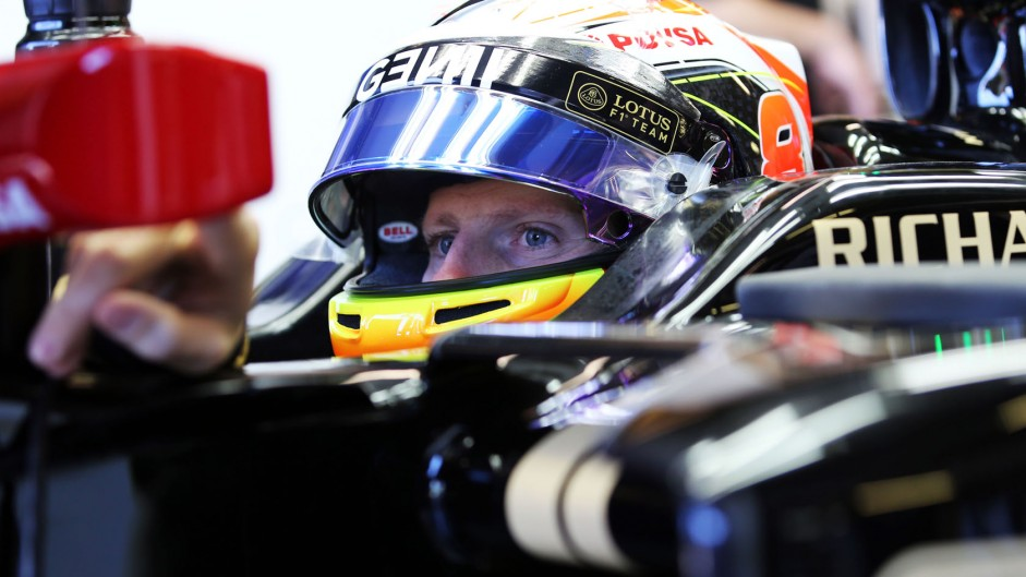 Lotus frustrated as power loss ends Grosjean's race
