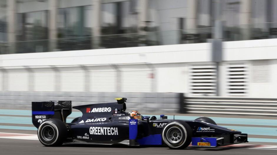 Zoel Amberg, Lazarus, GP2 testing, Yas Marina, 2015