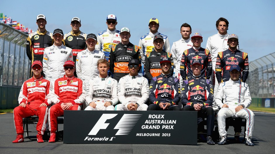 F1's dwindling grid: Ten years of drivers' class photos