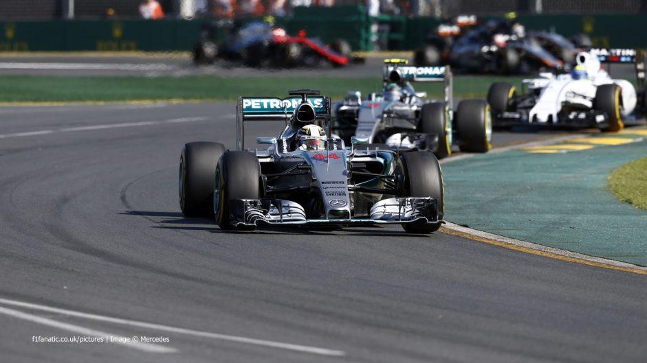 Lewis Hamilton, Mercedes, Albert Park, 2015