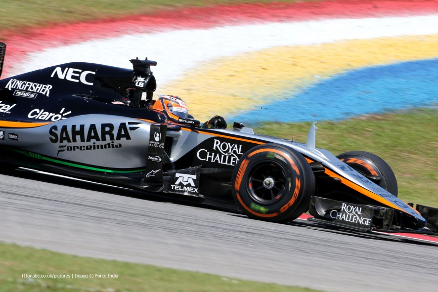 Nico Hulkenberg, Force India, Sepang International Circuit, 2015