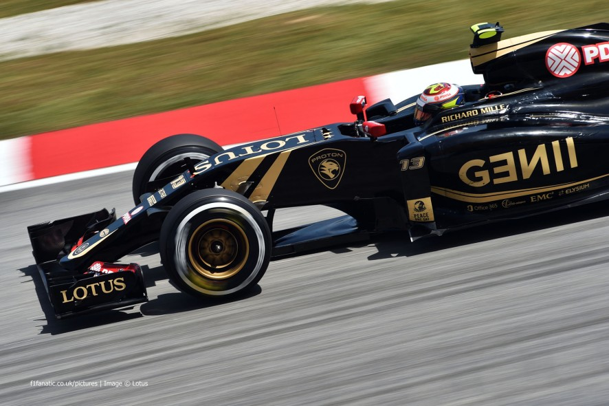 Pastor Maldonado, Lotus, Sepang International Circuit, 2015