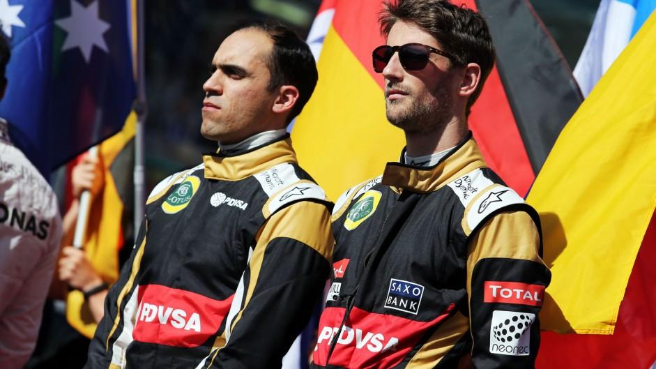 Pastor Maldonado, Romain Grosjean, Lotus, Albert Park, 2015