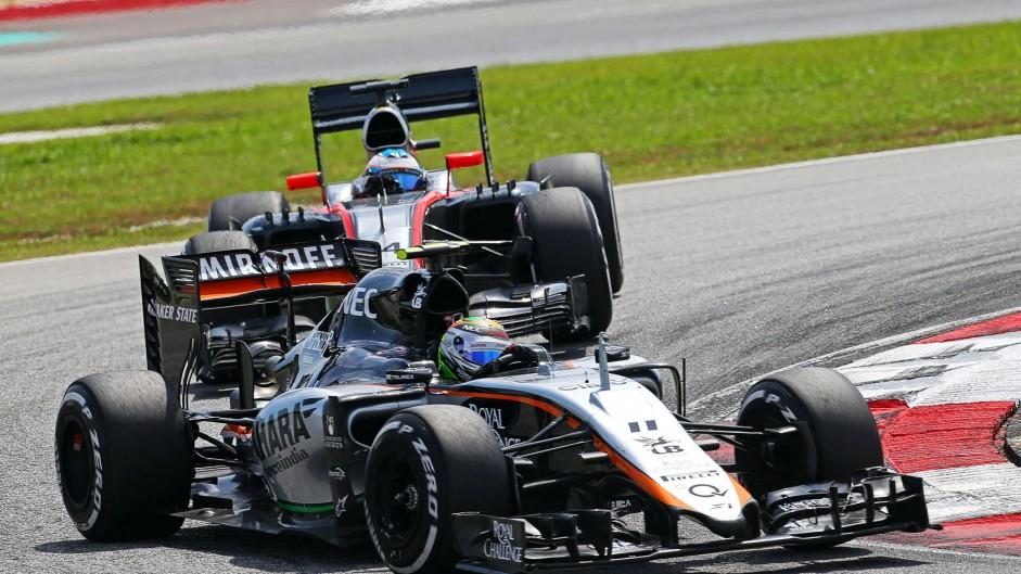 Sergio Perez, Force India, Sepang International Circuit, 2015