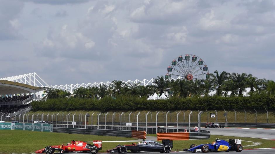 Kimi Raikkonen, Jenson Button, Felipe Nasr, Sepang International Circuit, 2015