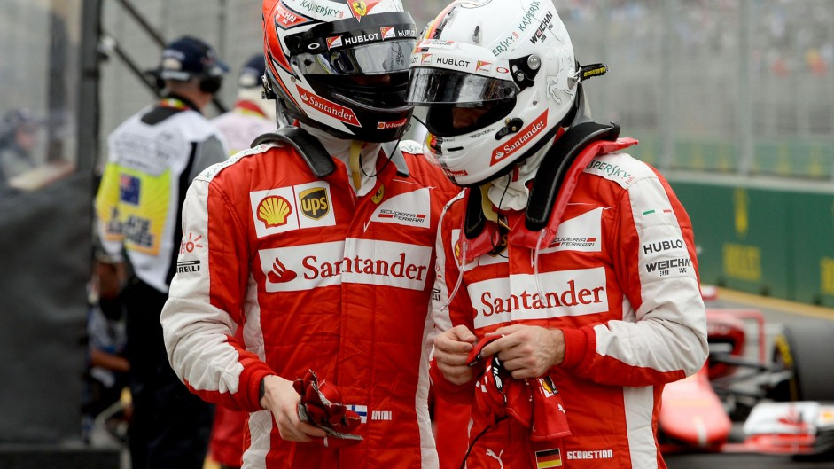 Raikkonen & Vettel say Ferrari could have taken third