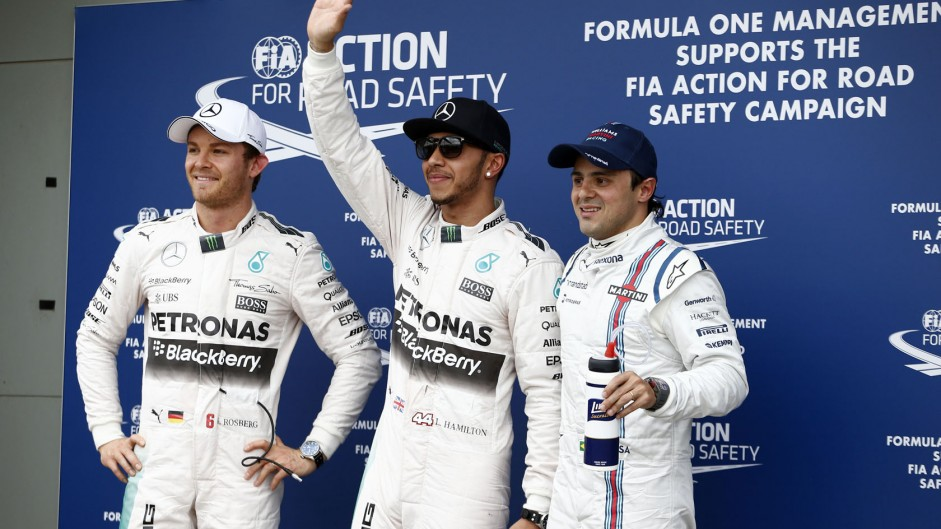 Hamilton leads Mercedes rout in qualifying