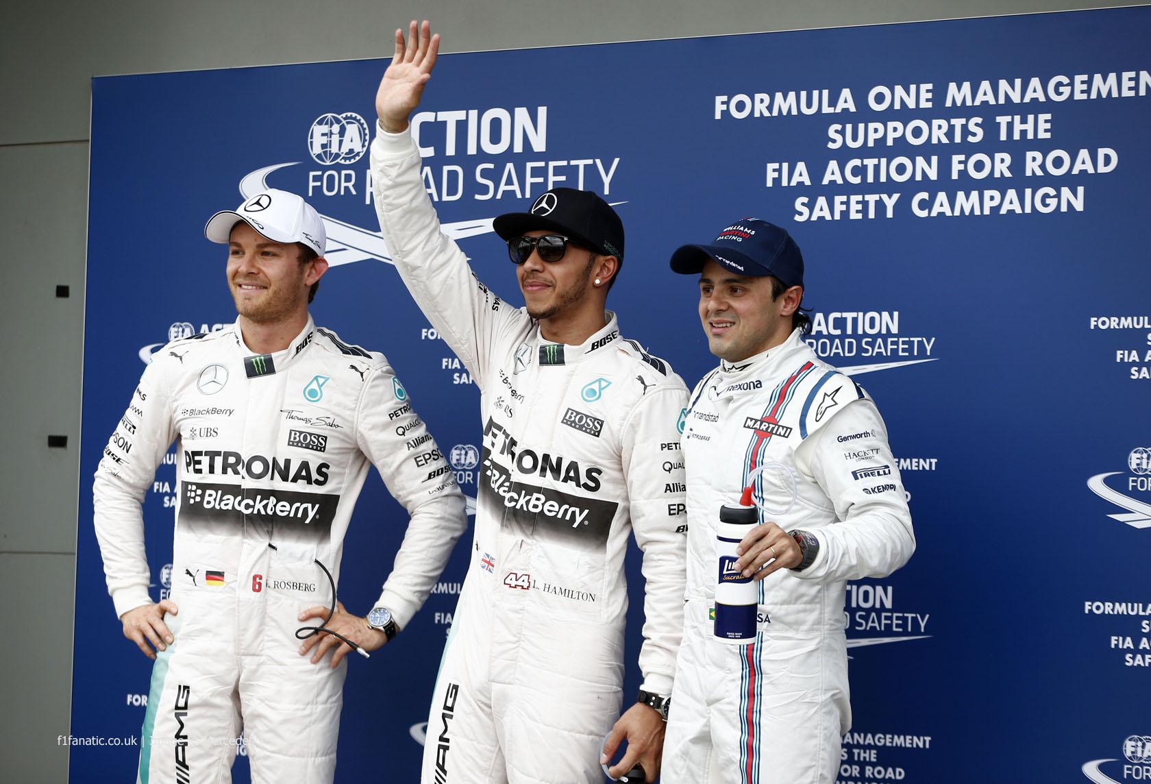 Nico Rosberg, Lewis Hamilton, Felipe Massa, Albert Park, 2015