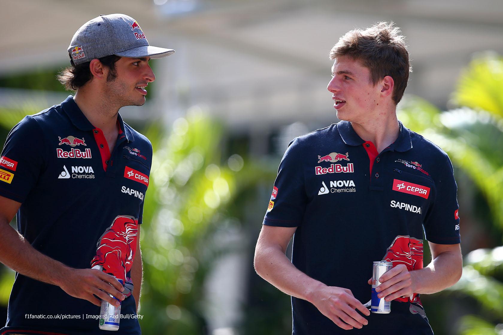 Carlos Sainz Jnr, Max Verstappen, Toro Rosso, Sepang International Circuit, 2015