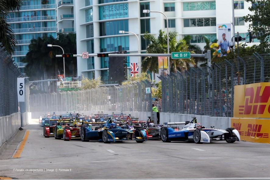 Start, Formula E, Miami, 2015