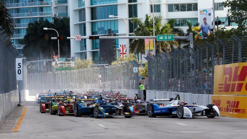 Prost takes Formula E win, Harvick doubles up