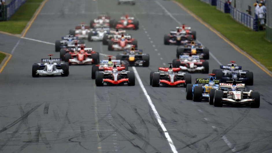 Alonso wins again after pole sitter Button blows up