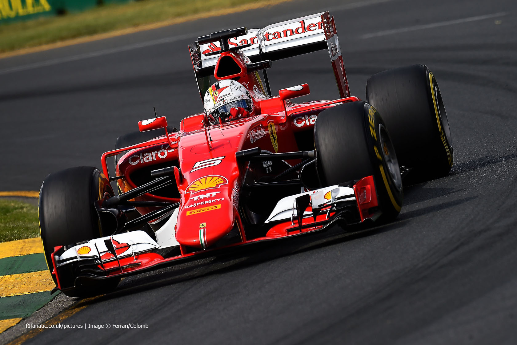 Sebastian Vettel, Ferrari, Albert Park, 2015