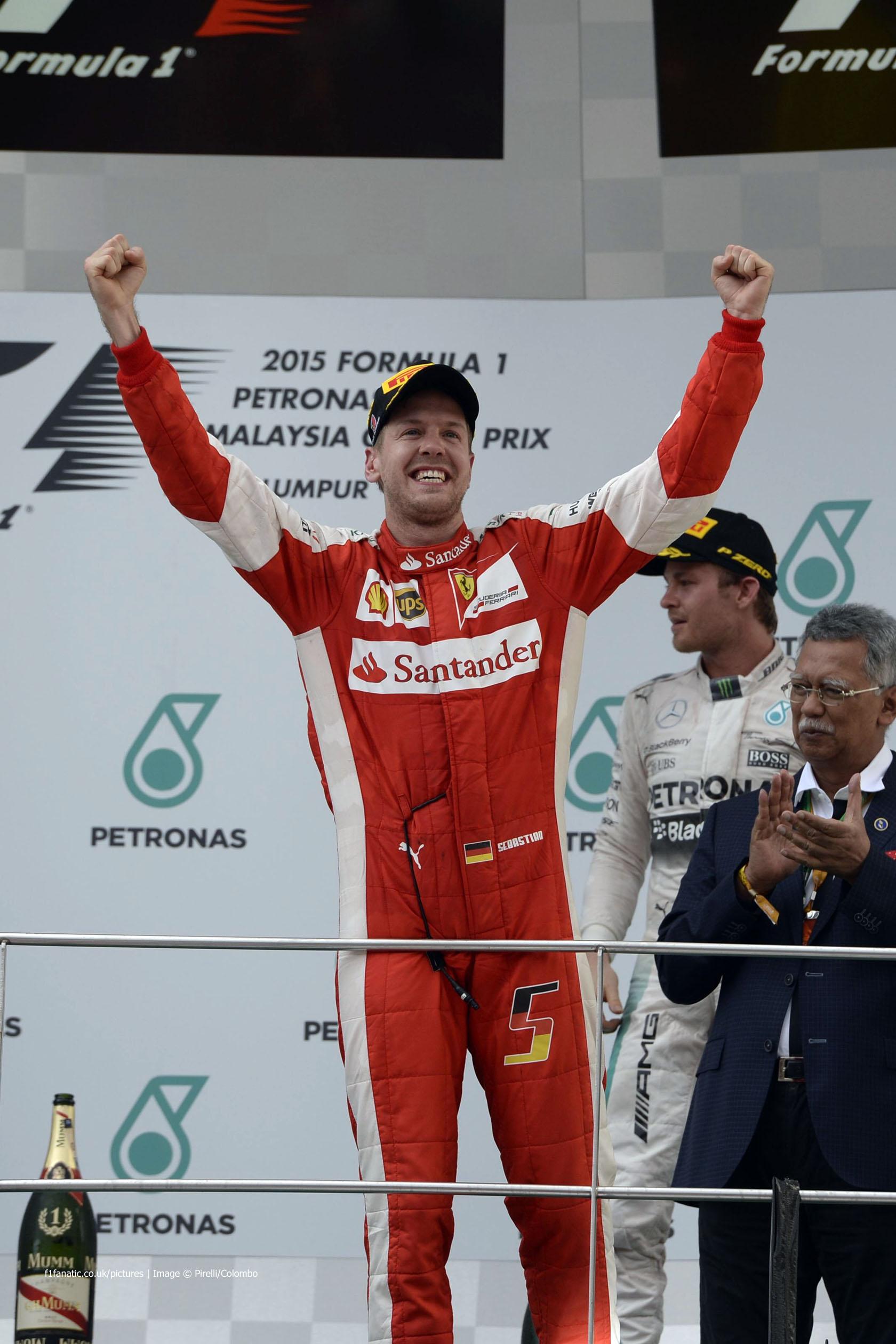 Sebastian Vettel, Ferrari, Sepang International Circuit, 2015