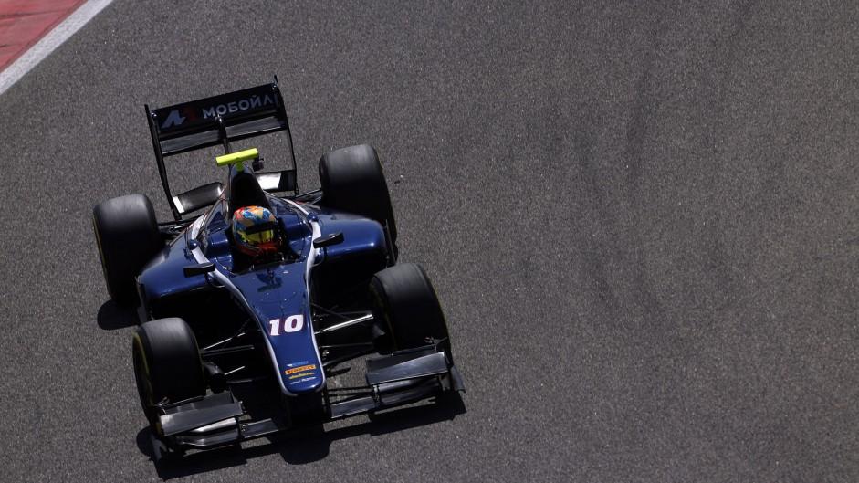 Artem Markelov, Russian Time, GP2 testing, Bahrain, 2015