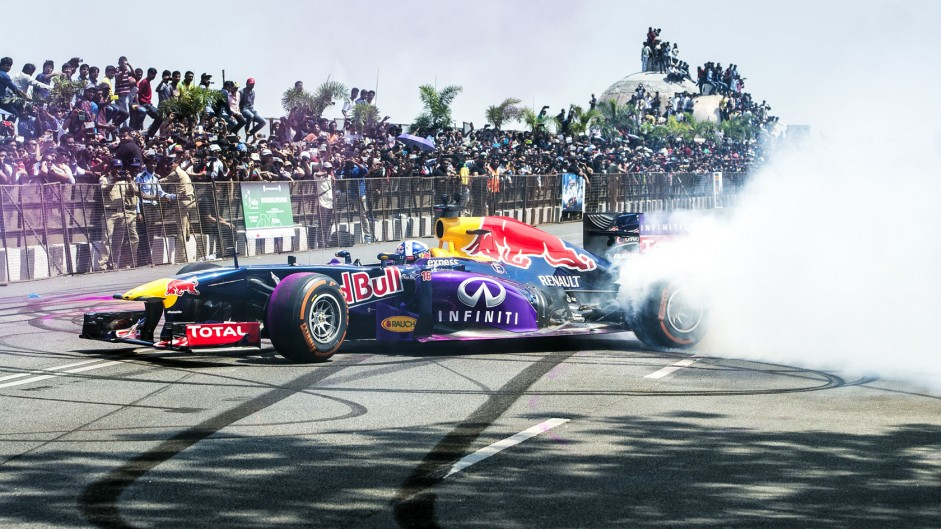 David Coulthard, Red Bull, Hyderabad, 2015
