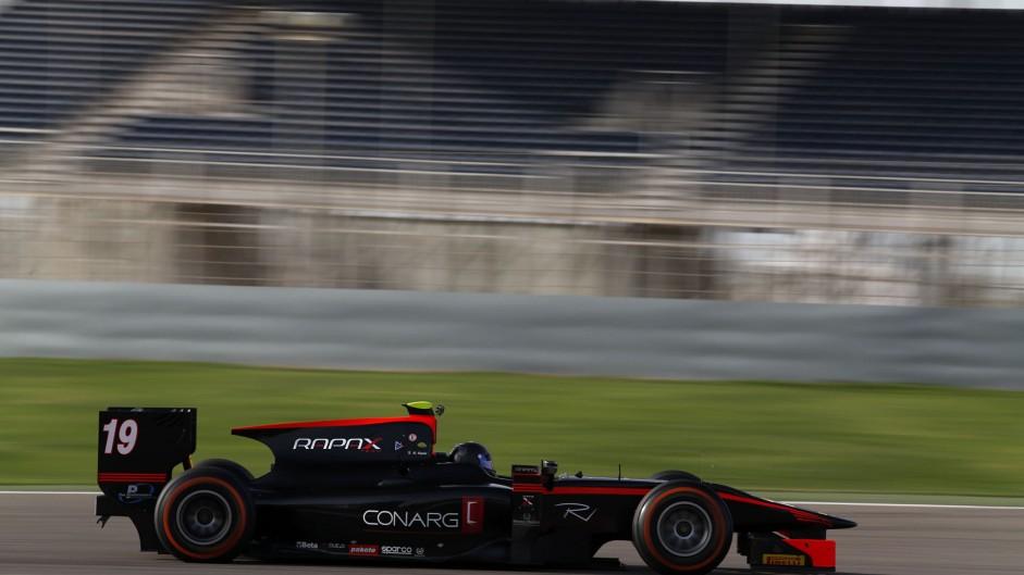 Robert Visoiu, Rapax, GP2 testing, Bahrain, 2015