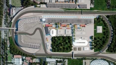 Autodromo Hermanos Rodriguez aerial map, 2015