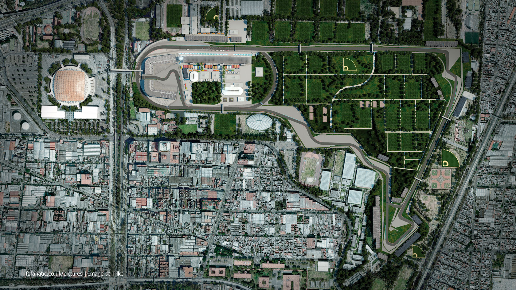 Drs zones on first two straights in mexico f1 fanatic for Puerta 2 autodromo hermanos rodriguez