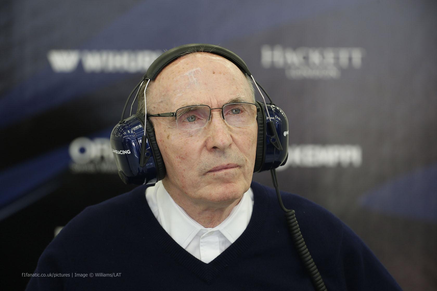 Frank Williams, Williams, Bahrain International Circuit, 2015